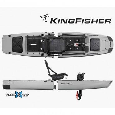 Point 65 Kingfisher Solo Fishing Kayak-Gray