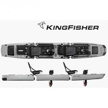 Point 65 Kingfisher Tandem Fishing Kayak - Gray