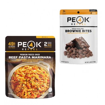 Peak Refuel Backpacking Meals, Dehydrated