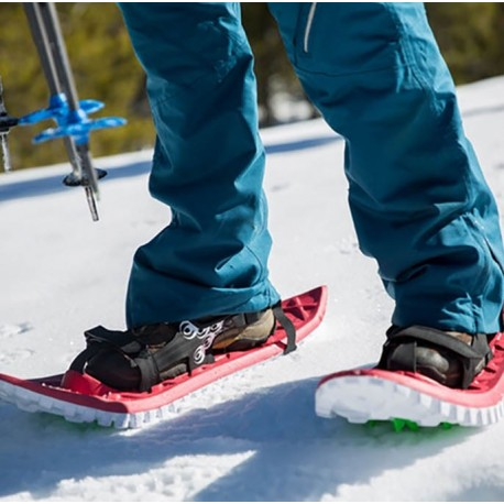 Rent the Crescent Moon Foam Snowshoe for winter adventures