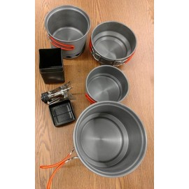 Cookware and Stove Combo for Backpacking