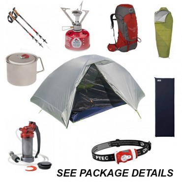Rent a Backpacking Package for 1 Person