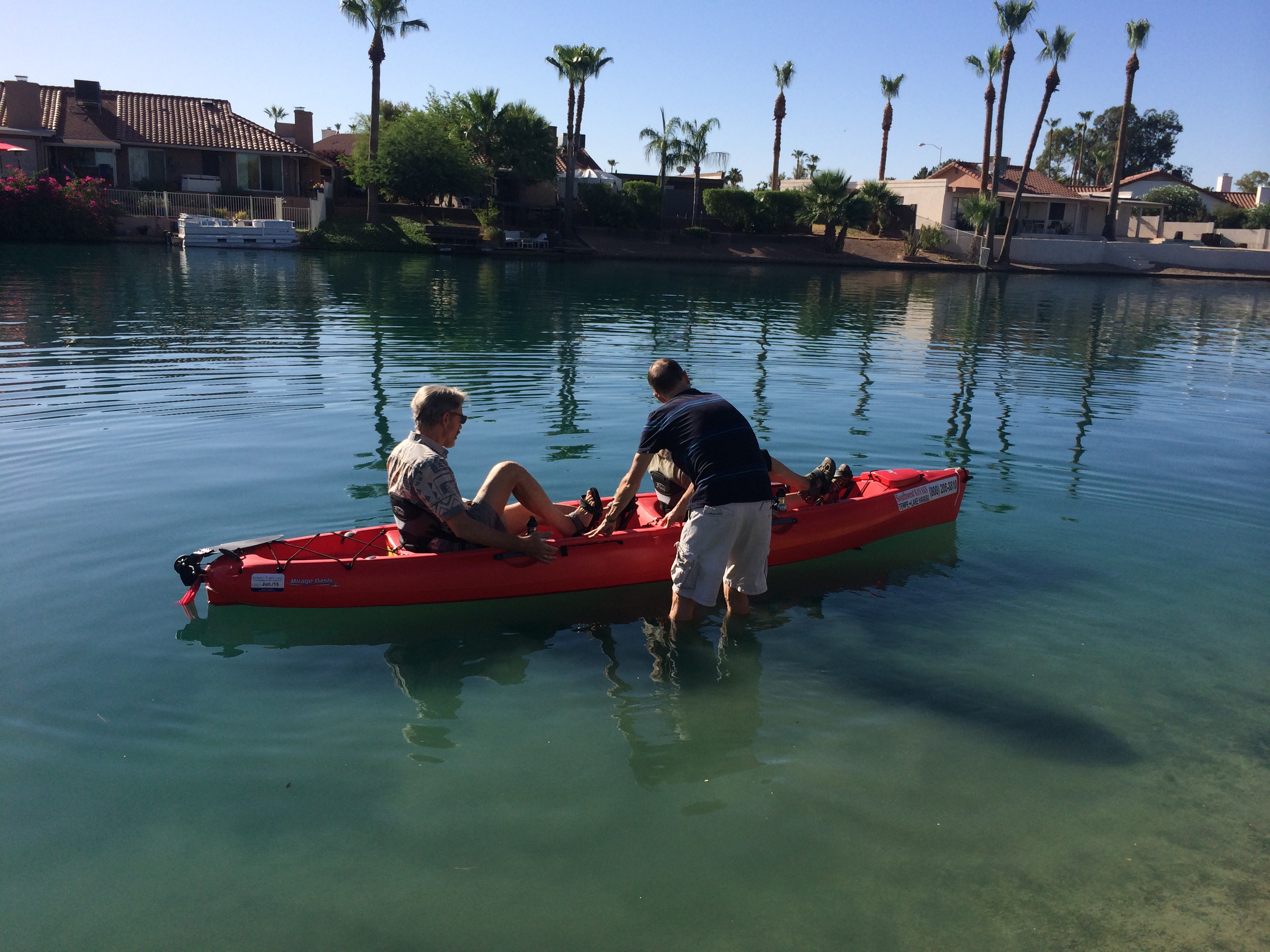 Kayak demo day in Tempe