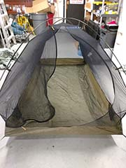 rented tent body setup