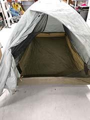 front door of backpacking rental tent