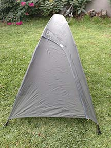 rented tent with fly coverage