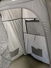 renting a camp privacy shelter for showers or bathroom