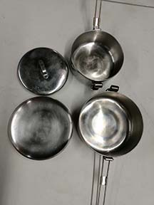 rent cooking pots and pans