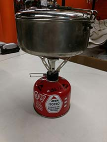 boil water for dehydrated meals for camping trips