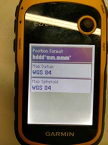 set formats of rented gps units