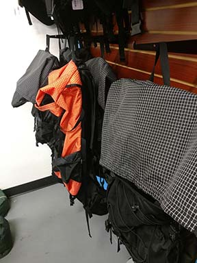 ULA backpacks try out