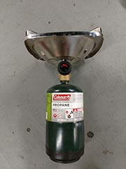fuel canister for rented stove