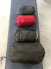 rent sleeping bags for camping