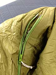 renting a sleeping bag with foot vents