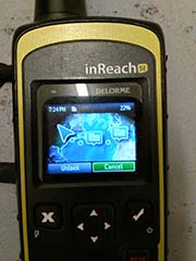turn on rented inreach device
