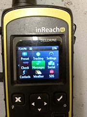 messages on rented inreach device