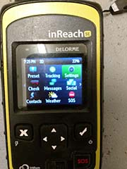 sending messages on rental unit garmin inreach